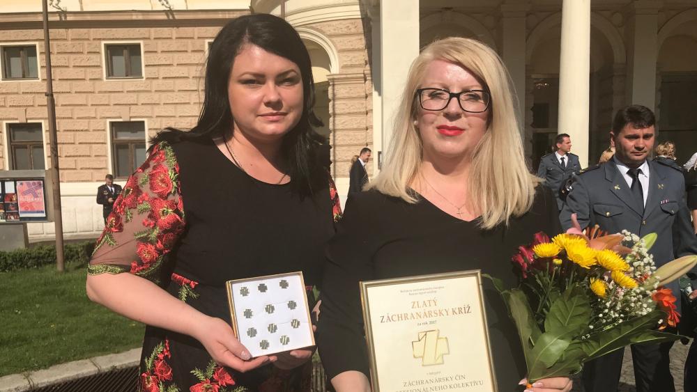 Zlatý záchranársky kríž pre KOS Prešov